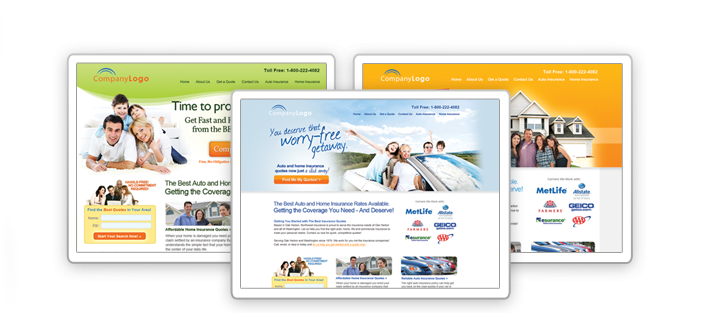 Insurance Agent Website Templates - Crooked Tooth Media