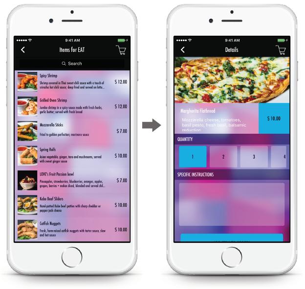 Bar App - Menu