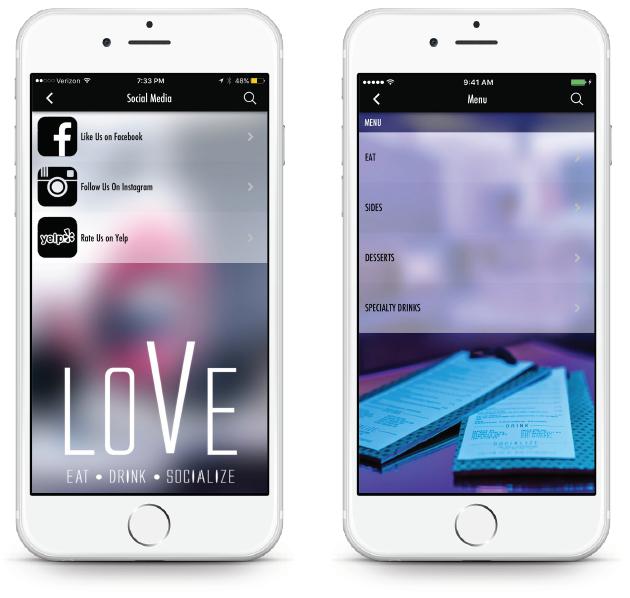 Bar App - Social Media
