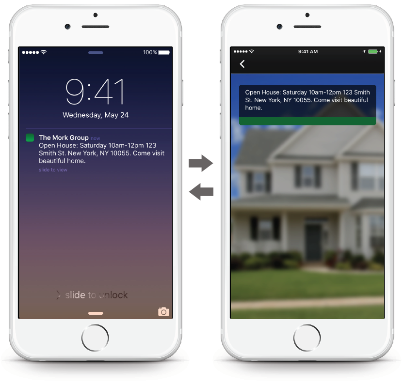 Real Estate App - Push Notification
